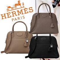 HERMES Bolide Plain Leather Party Style Home Party Ideas Handbags