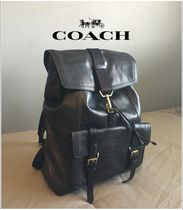 Coach BLEECKER A4 Plain Leather Backpacks