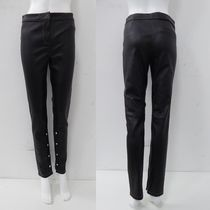 LOEWE Plain Leather Leather & Faux Leather Pants