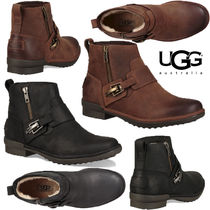 UGG Australia Plain Leather Ankle & Booties Boots