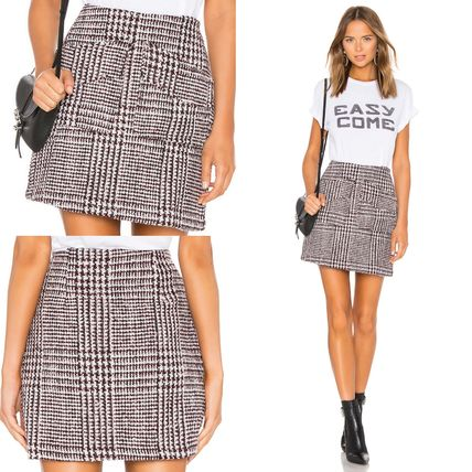 Pencil Skirts Short Other Check Patterns Skirts