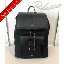DIOR HOMME Nylon Street Style A4 2WAY Plain Backpacks