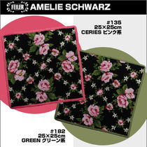 FEILER Flower Patterns Cotton Handkerchief