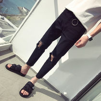 Tapered Pants Street Style Plain Cotton Tapered Pants