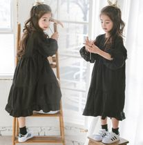 Street Style Midi Oversized Kids Girl Dresses
