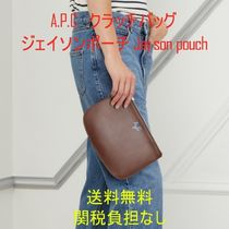 A.P.C. Casual Style Bag in Bag Leather Clutches