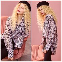 ELF SACK Leopard Patterns Casual Style Street Style Shirts & Blouses