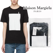 Maison Martin Margiela Crew Neck Pullovers Blended Fabrics Cotton Short Sleeves