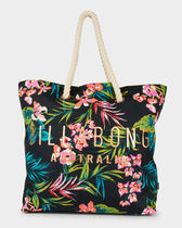Billabong Flower Patterns Casual Style A4 Oversized Totes