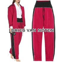 Dries Van Noten Casual Style Silk Bi-color Long Wide Leg Pants