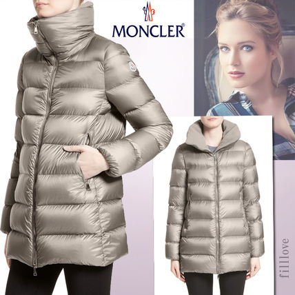 ... MONCLER Down Jackets Plain Medium Elegant Style Down Jackets ...