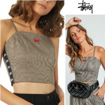 STUSSY Short Casual Style Sleeveless Tanks & Camisoles