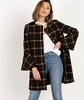 Other Check Patterns Casual Style Medium Coats