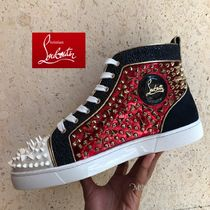 Christian Louboutin Blended Fabrics Leather Sneakers