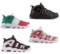Nike AIR MORE UPTEMPO Unisex Street Style Sneakers