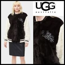 UGG Australia Casual Style Fur Plain Medium Varsity Jackets