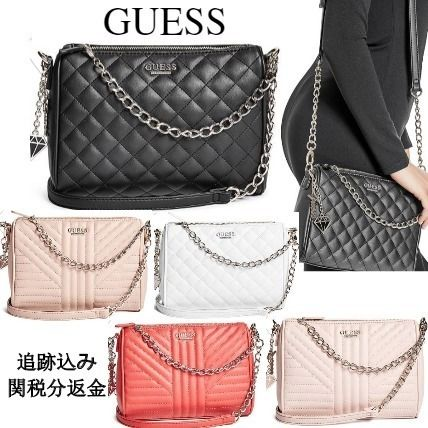 Casual Style Blended Fabrics 2WAY Plain Shoulder Bags