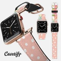 casetify Casual Style Unisex Leather Square Watches