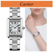 Cartier TANK Unisex Square Quartz Watches Elegant Style Analog Watches