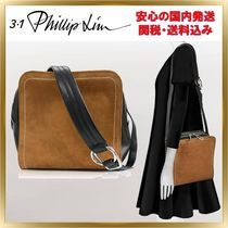 3.1 Phillip Lim Unisex Suede Bi-color Plain Elegant Style Shoulder Bags