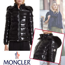 MONCLER BADY Short Fur Plain Down Jackets