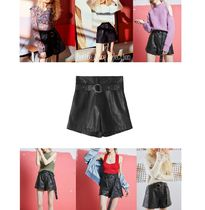 ELF SACK Short Casual Style Faux Fur Street Style Plain
