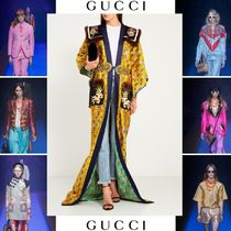 GUCCI Long With Jewels Oversized Elegant Style Coats