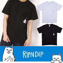 RIPNDIP Crew Neck Pullovers Unisex Other Animal Patterns Cotton