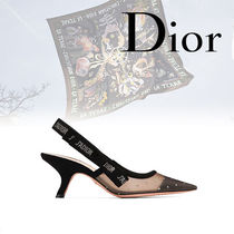 Christian Dior JADIOR Casual Style Suede Bi-color Pin Heels