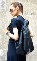 Aakasha Plain Leather Handmade Backpacks