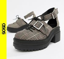 ASOS Other Check Patterns Platform Casual Style