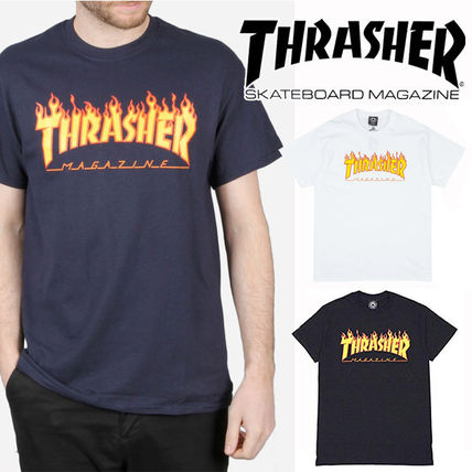 c1623545f6b5 ... THRASHER Crew Neck Crew Neck Pullovers Unisex Street Style Cotton Short  Sleeves ...