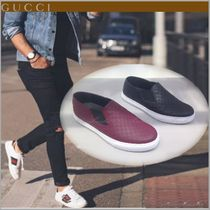 GUCCI Monogram Leather Loafers & Slip-ons
