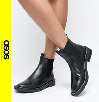 ASOS Casual Style Leather Chelsea Boots Ankle & Booties Boots