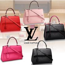 Louis Vuitton EPI 2WAY Plain Leather Elegant Style Totes