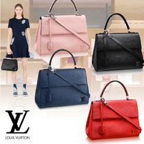 Louis Vuitton EPI Plain Leather Elegant Style Totes