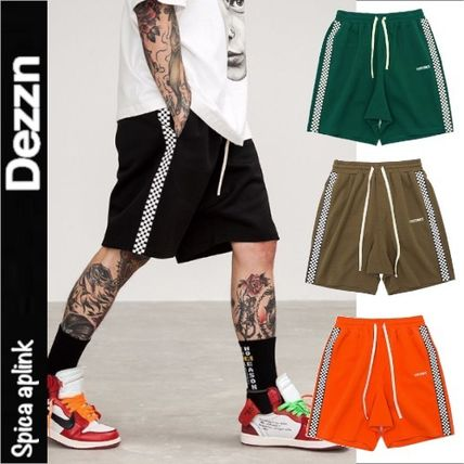 Other Check Patterns Unisex Street Style Shorts