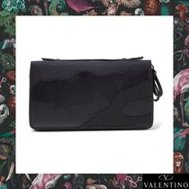 VALENTINO Camouflage Canvas Long Wallets