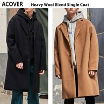 ACOVER Unisex Wool Studded Plain Long Parkas