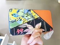 LOEWE PUZZLE Flower Patterns Leather Long Wallets