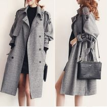 Glen Patterns Trench Coats