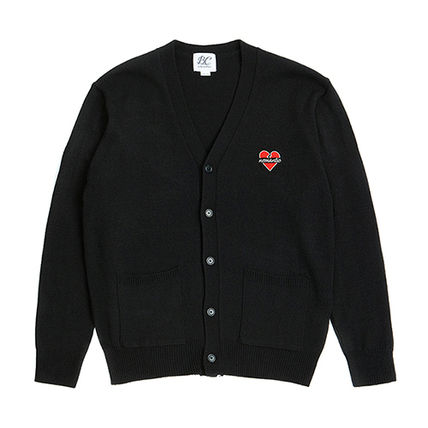 Heart Casual Style Unisex Collaboration Long Sleeves Plain