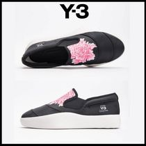 Y-3 Flower Patterns Loafers Unisex Street Style