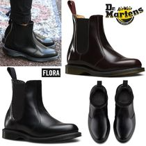 Dr Martens Plain Toe Rubber Sole Plain Leather Chelsea Boots