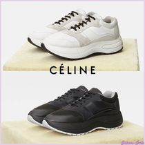 CELINE Rubber Sole Casual Style Plain Leather Low-Top Sneakers