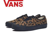 VANS AUTHENTIC Leopard Patterns Suede Street Style Sneakers