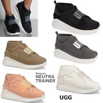 UGG Australia Platform Plain Toe Casual Style Plain Slip-On Shoes