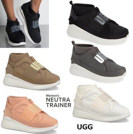 UGG Australia Slip-On Platform Plain Toe Casual Style Plain Slip-On Shoes