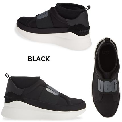 UGG Australia Slip-On Platform Plain Toe Casual Style Plain Slip-On Shoes 3