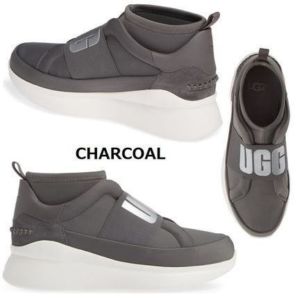 UGG Australia Slip-On Platform Plain Toe Casual Style Plain Slip-On Shoes 5